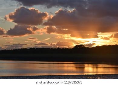 Golden sunset at Oosterschelde
