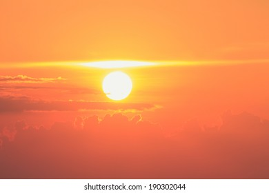 Golden sunset and skyscape background