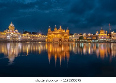 The Golden Temple Amritsar India (Sri Harimandir Sahib Amritsar), a central religious place of the Sikhs.
