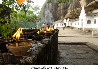 Golden Temple buddhist caves - Dambulla, Sri Lanka