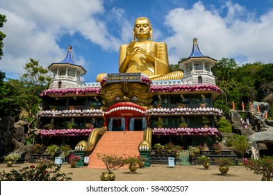 Golden Temple of Dambulla in Dambulla, Central Province, Sri Lanka, Asia