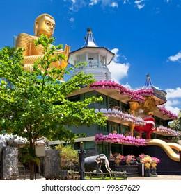 Golden temple in Dambulla - landmarks of  Sri lanka