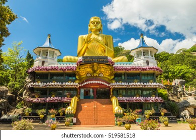 The Golden Temple in Dambulla Sri Lanka - a UNESCO heritage site.