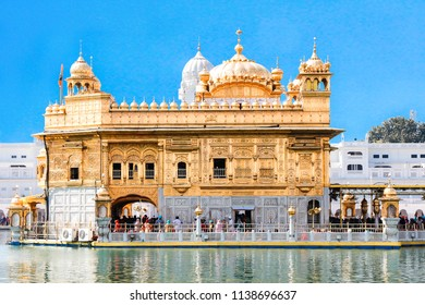 golden temple day shot amritsar india