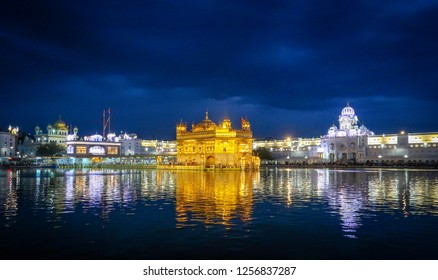 Golden Temple in Evening with Blue Sky, Punjab India