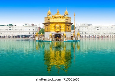 Golden Temple or Harmandir Sahib in Amritsar, Punjab state, India