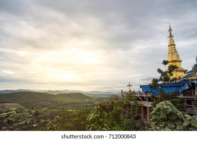 """Golden temple """"Wat Pha Bhud Tha Baht Pha Nham"""" One of the most important places in the district of Li, it is also a viewpoint of the city, where you can see the sunrise in the morning mist."""