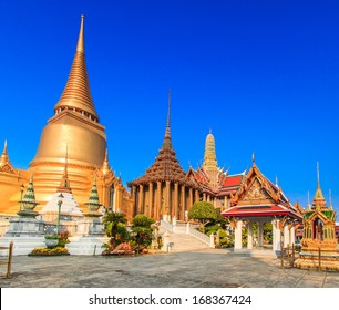 Golden Temple Wat Phra Kaeo, Temple of the Emerald Buddha Bangkok, Asia Thailand