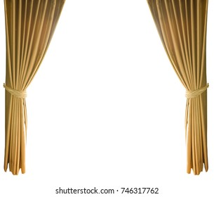 golden theatrical curtain