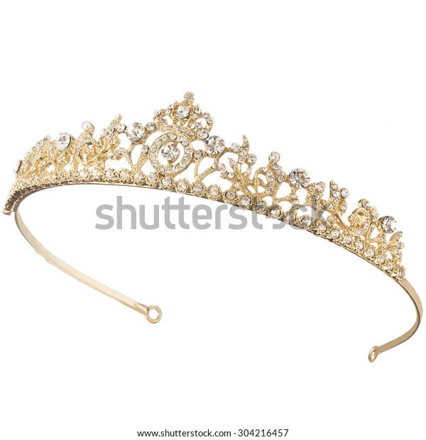 Oferta de trabajo Chispa  chispear curva  tiara dorada aislada : Foto de stock (editar ahora) 304216457