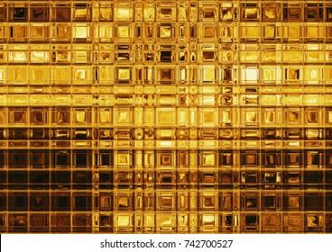 Golden tile mosaic, luxurious gold background