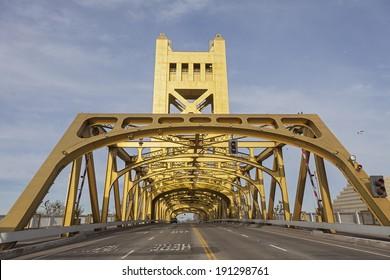 The Golden Tower Bridge at Sacramento, USA