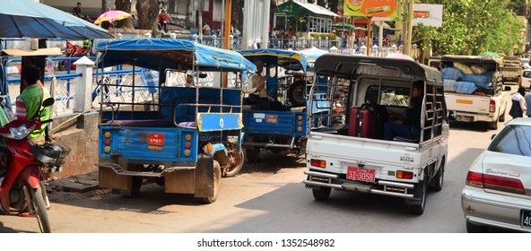 Golden Triangle - MARCH 19: Main transport on crossing street on MARCH 17, 2018 in Golden Triangle City.