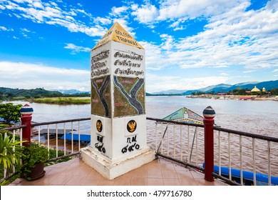 Golden Triangle sign at Mekong River, Chiang Rai Province, Thailand