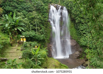 The Golden Valley waterfalll in the Munduk jungle, Bali, Indonesia