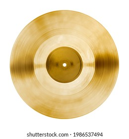 Golden vinyl record design element