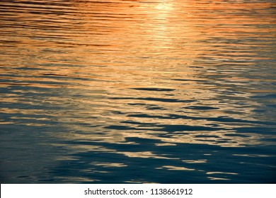 Golden water as a background