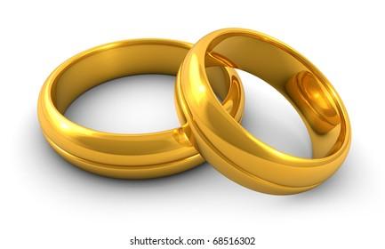 golden wedding-rings