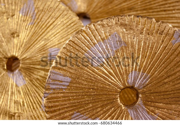 Golden Wheels Abstract Background