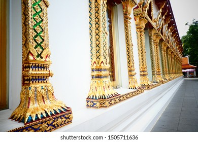 Golden and White Temple Wall