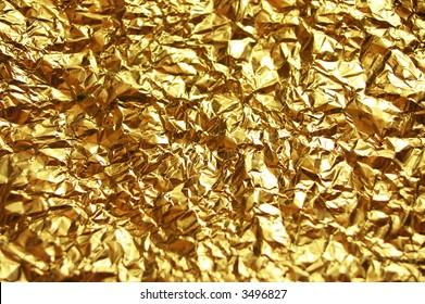 golden wrinkled Aluminum