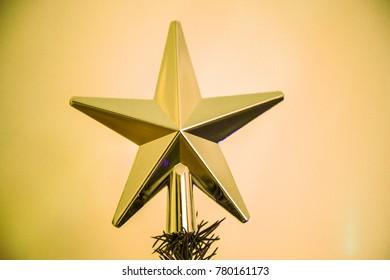 christmas star tree topper christmas topper stock vector royalty