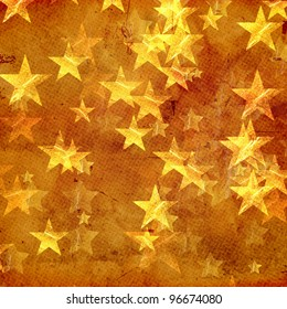 golden yellow stars over beige background old paper