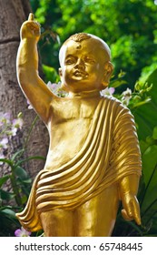 Golden Young Buddha statue, Thailand