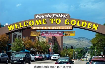 GOLDEN,CO - SEPTEMBER 06,2019:Entrance to the Golden,Colorado,United States.