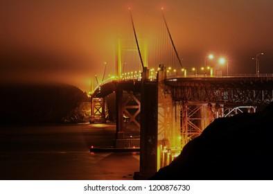 Goldengatebridge in the early morning