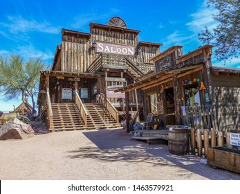 GOLDFIELD GHOST TOWN, USA -  MARCH 3, 2011:An old shop  in Goldfield Ghost town, USA. vack in 1he 1890s Goldfield boasted 3 saloons, boarding house, general store, brewery and school house.