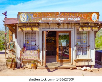 Goldfield Ghost Town, USA -  March 3, 2011: An old shop  in Goldfield Ghost town, USA. Back in 1he 1890s Goldfield boasted 3 saloons, boarding house, general store, brewery and school house.