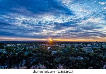 Goldfields Town Of Kalgoorlie Western Australia  at dawn .