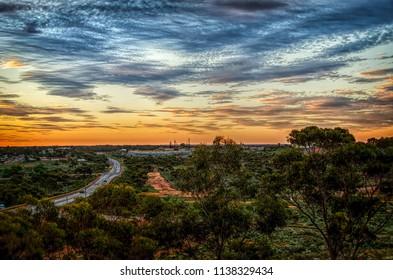 Goldfields Town Of Kalgoorlie Western Australia  at sunset