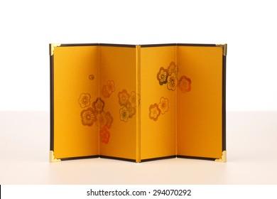 Gold-leaf folding screen
