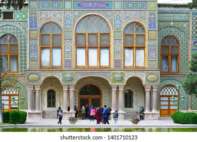 Golestan Palace, Tehran/iran-April 25, 2019: Golestan Palace is a masterpiece of the Qajar era, embodying the successful integration of earlier Persian crafts and architecture with Western influences.