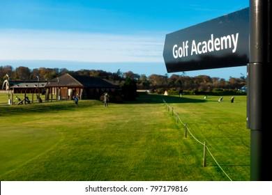 Golf academy school sign