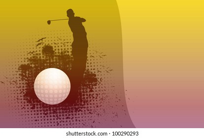Golf background (poster, web, leaflet, magazine)