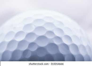Golf Ball with all its imperfections extreme Close-up macro