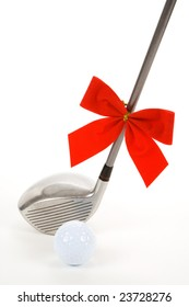 Golf Ball and Driver for Christmas season