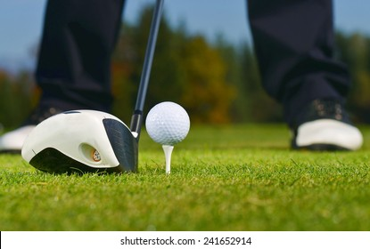 Golf Ball, Golfer and Club