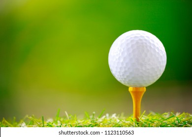 Golf ball green background