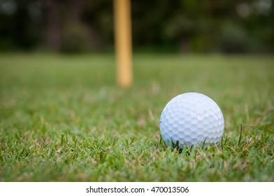 golf ball green grass