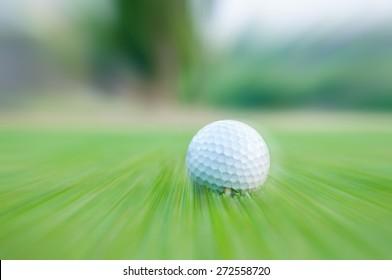 Golf ball motion