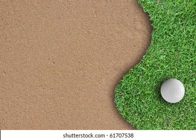 Golf ball on the golf course