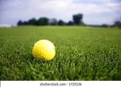 Golf ball on driving range