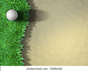 Golf Ball on the Grass for web Background