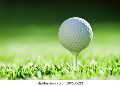 golf ball on green grass