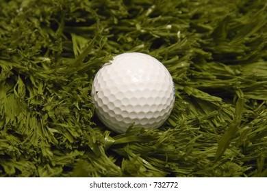 Golf ball on turf
