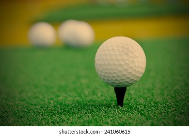 Golf ball. Playing golf, instagram image style